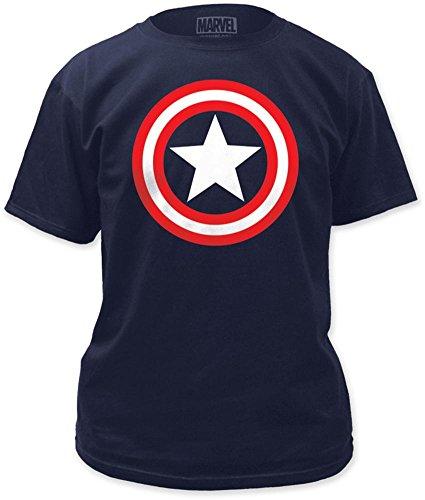 Captain America Shield on Royal T-Shirt Size M -