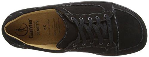 Ganter SENSITIV KURT, Weite K - zapatos con cordones de cuero hombre negro - Schwarz (schwarz 0100)