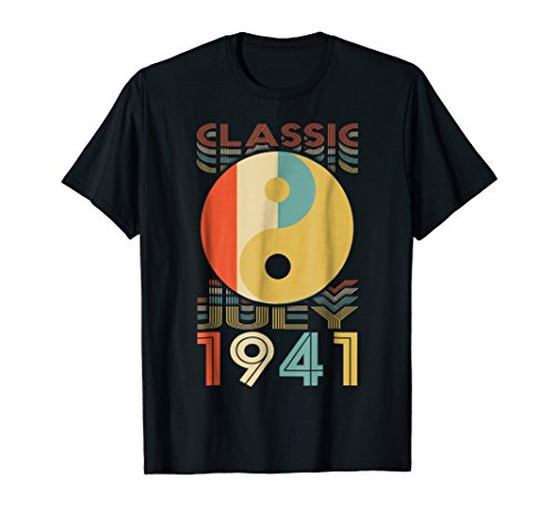 Classic Yin Yang Retro July 1941 77th Birthday Gifts 77 yrs