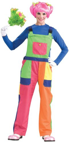 Overall Costumes Women (Clown Overalls Costume- Adult - One Unisex - Fits up to chest size 42
