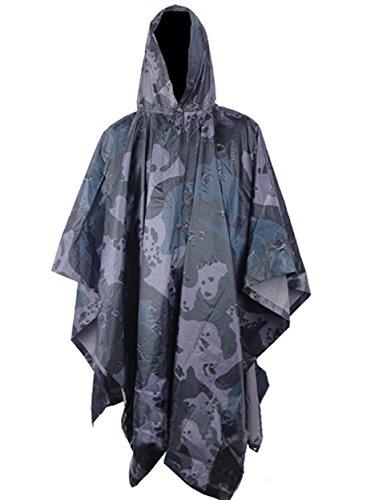 Kayiyasu ポンチョ 迷彩 レインコート 雨具 フード付き レインウェア 防水 男女兼用 雨合羽 梅雨対策 ミリタリー アウトドア 021-lghw-mgh-001(フリーサイズ 写真より)