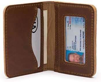 Saddleback Leather Front Pocket Thin Wallet - RFID Shielded Minimalist Bifold