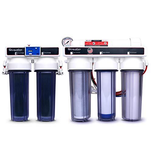 LiquaGen - 6 Stage Heavy Duty - 0 PPM Reverse Osmosis/Deionization Aquarium Reef Water Filter System, 150 GPD from LiquaGen