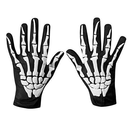 Petalum Halloween Skeleton Gloves for Women Men Skull Gloves for Cycling Riding Motorcycle Ski Finger Bone Costume…