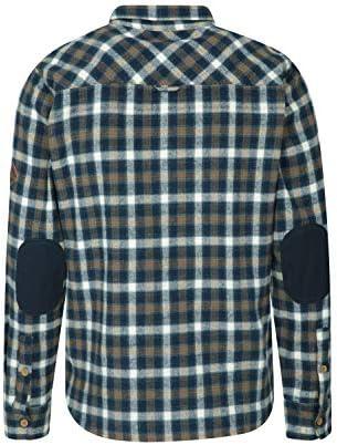 Mountain Warehouse Camiseta de Franela Lumberjack para Hombre - Manga Larga, con Botones, Ligera y de fácil Cuidado - para Senderismo y Viajes: Amazon.es: Ropa y accesorios