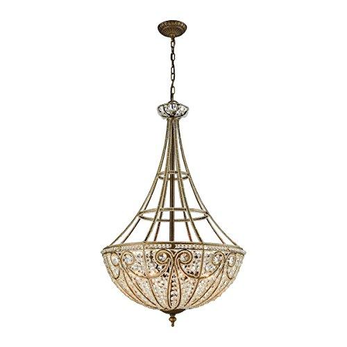 Elk Lighting 15966/8 Elizabethan 8 Light Pendant in Dark Bronze Chandelier,