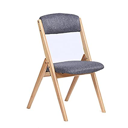 Amazon.com : Cqq Bar Chair Solid Wood Home Folding Chair Modern ...
