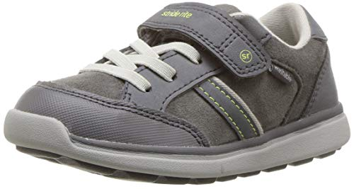 Stride Rite Boys' Made 2 Play Cory Sneaker, Grey, 5.5 W US Toddler