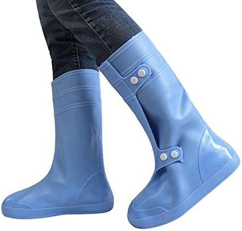 男女兼用 ハイチューブ防雨Snowproofアダルト靴カバーサイズ:XXXXL(ブラック)