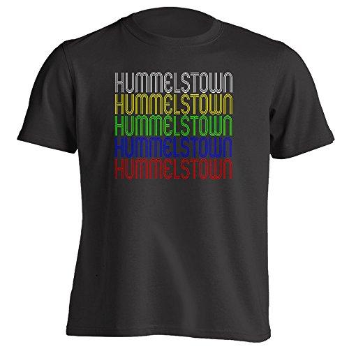 Vintage Style Retro Hometown - Hummelstown, PA 17036 - Black - Small - Souvenir - Unisex - T-Shirt ()