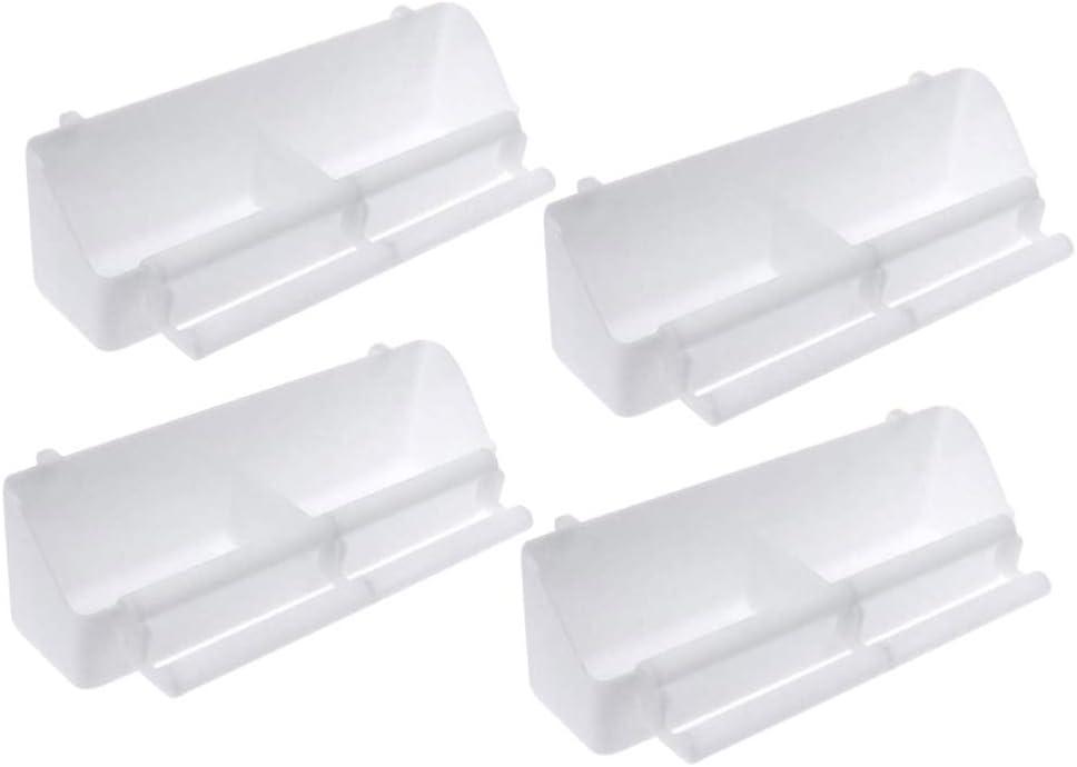 Balacoo 4 Piezas Comedero para Pájaros con Perca Cuenco de Plástico para Alimentar Accesorio de Jaula
