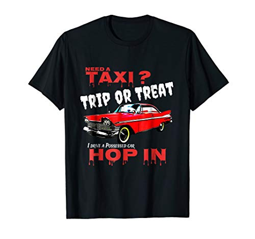 Funny Trip or Treat Halloween Taxi Costume T-shirt]()