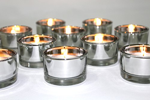 Tea Light Candle Holder - Pack of 24 (silver)