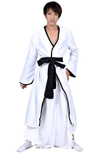 ICEMPs Cosplay Costume Substitute Shinigami Kurosaki Ichigo White Bankai Set (Ichigo Kurosaki Costume Uk)