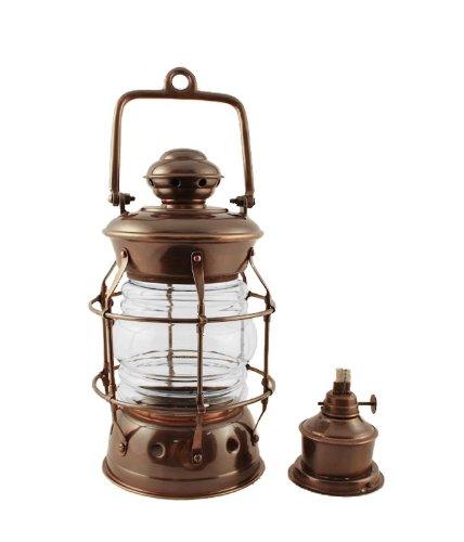 Vermont Lanterns Brass Nelson - Nautical Oil Lamp (10.5'', Antique Brass)