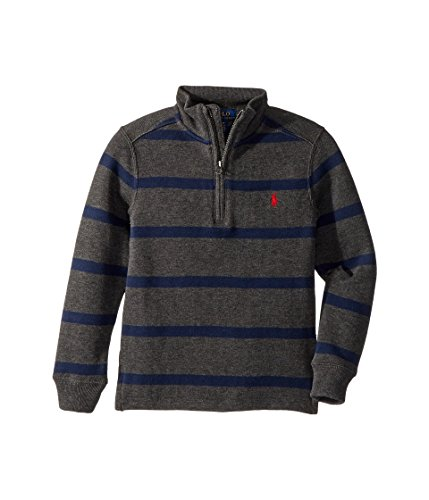 RALPH LAUREN Polo Boys Half Zip Striped Pullover Sweater (2T (Half Zip Striped Sweater)