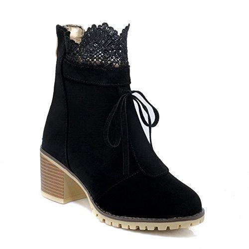 Balamasa Vestido De Moda Para Mujer Antideslizante Botas De Gamuza Abl10217 Negro