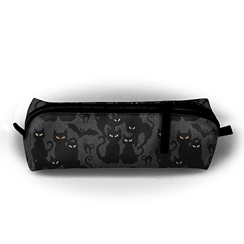 Tuoluoo Halloween Cats Eyes On You Cute Pen Case Pencil Bag Holder Makeup Cosmetic Pouch Bag