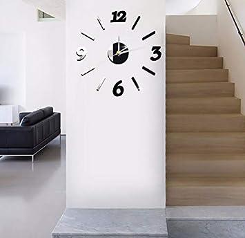gwgdjk 3D DIY Relojes De Pared Digital Reloj De Cocina Al Aire Libre Moderno Gran Gran Numeral Retro Antiguo Reloj De Pared De Cuarzo Decoración De Acrílico ...