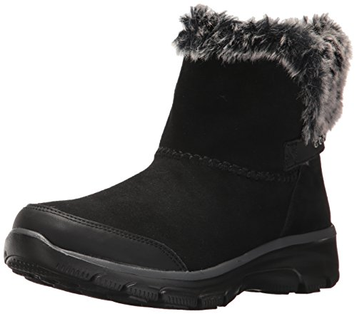 Skechers Women's Easy Going - Quantum Ankle Bootie, Black