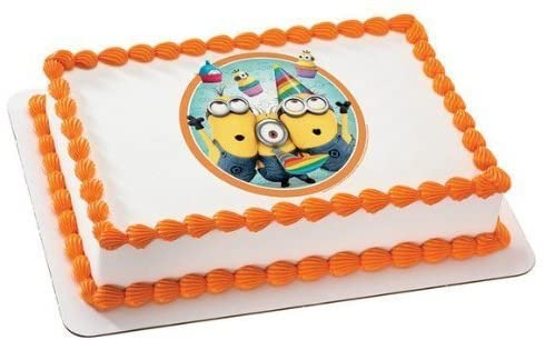 Strange Amazon Com Despicable Me 2 Minions Birthday Edible Image Cake Funny Birthday Cards Online Fluifree Goldxyz