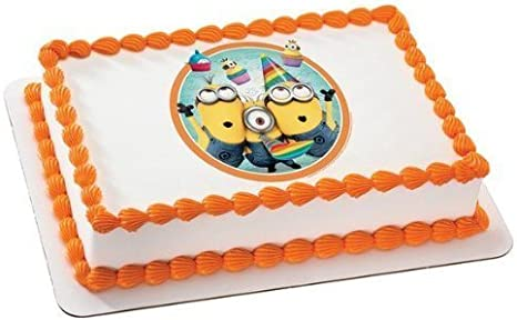 Outstanding Despicable Me 2 Minions Birthday Edible Icing Image Cake Topper Funny Birthday Cards Online Fluifree Goldxyz