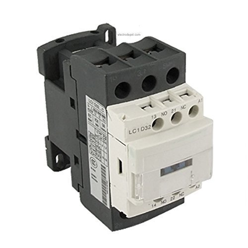30A Contactor 3 Pole 120V coil, 600V, Motor load 32A, Lighting 40A, 50A NO NC DIN, Model: , Outdoor & Hardware ()