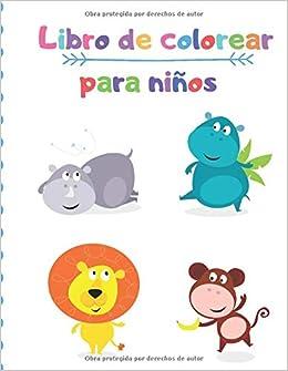 Libro de colorear para niños: Animales para ... - Amazon.com