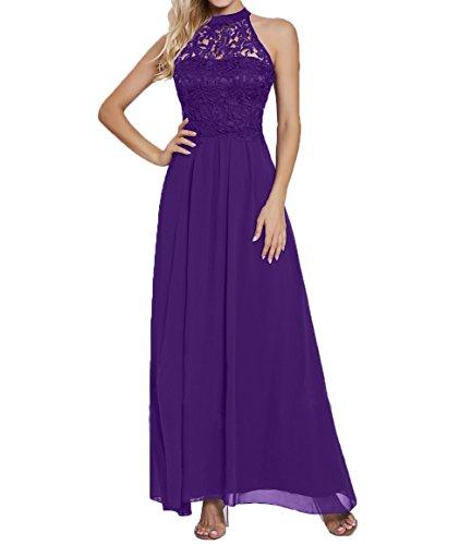 Brautmutterkleider Ballkleider Spitze Festlichkleider A Violett Partykleider Damen Langes Formalkleider Elegant Linie Charmant Abendkleider qvSXOv