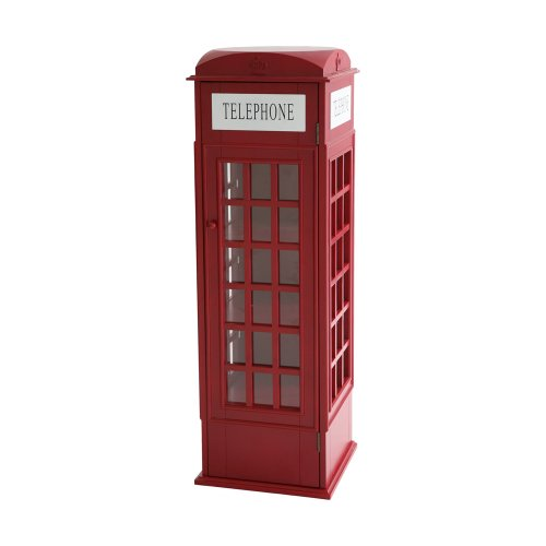 SEI Phone Booth Cabinet (Southern Enterprises Dvd Storage Media Storage)