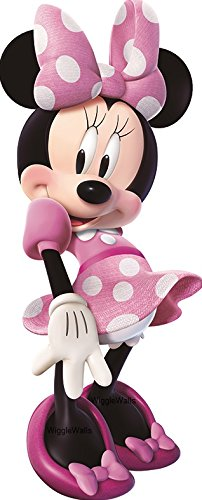 11 Inch MINNIE MOUSE BOW Mickey Removable Wall Decal Sticker Art Disney Home Decor 4 inches wide by 10 1/2 inches tall ()