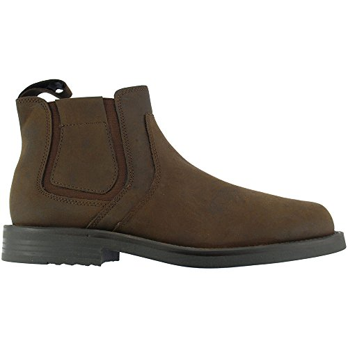 Roamers Mens New Brown Waxy Leather Chelsea Dealer Gusset Winter Boots:  Amazon.co.uk: Shoes & Bags