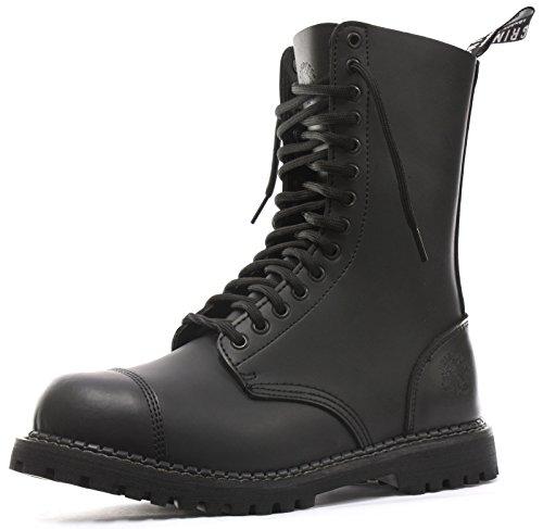 Grinders Herald 2015 Matte Finish Mens Safety Steel Toe Cap Boots, Size 11 Black (Steel Toe Grinders)