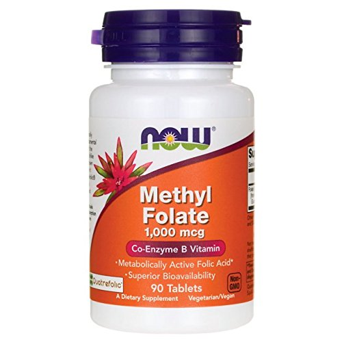 NOW Foods Methyl Folate Tablets, 1000 mcg, 90 Count