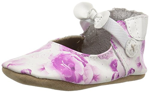 Robeez Girls' Disney Minnie Dots-K Crib Shoe, Cinderella Floral, 0-6 Months M US Infant ()