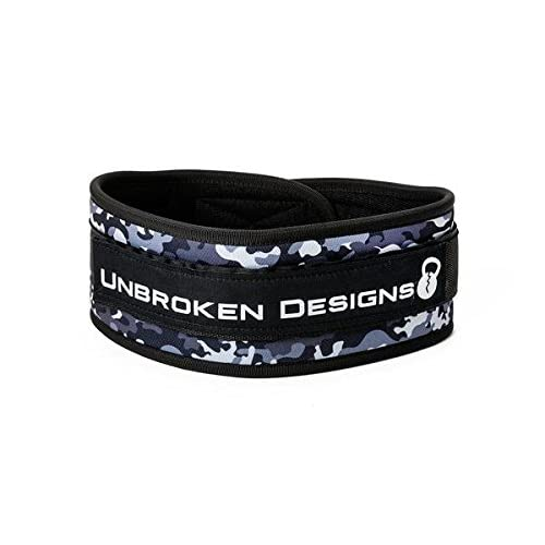 Velcro Weightlifting Belt - Gym Powerlifting Belt for Olympic Lifting, Crossfit, Squats, Bodybuilding, and Fitness - Heavy Duty Contoured Belt - Speed Demon Lifting Belt for Men & Women