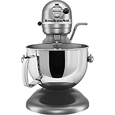 KitchenAid KV25G0XSL Professional 5 Plus Series Bowl-Lift Stand Mixer, Silver, 5 quart