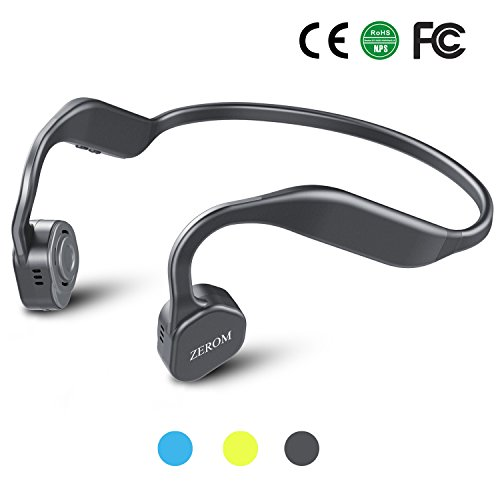 Price comparison product image Bone Conduction Headphones Bluetooth Wireless Titanium HiFi Stereo with Mic for Running Driving Cycling IP55 Waterproof Open Ear Sports Headsets for iphone Android other Bluetooth Devices Sky Grey