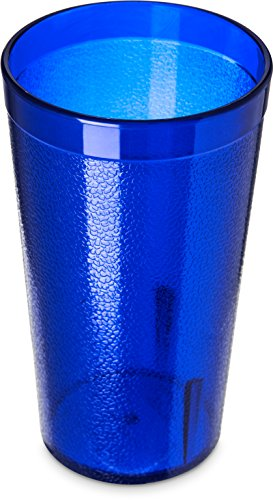 Carlisle 5212-8147 Stackable Shatter-Resistant Plastic Tumbler, 12 oz., Royal Blue (Pack of 6)