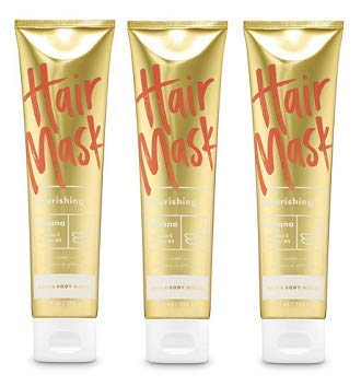 Bath and Body Works 3 Pack Nourishing Hair Mask Banana. 5 Oz.