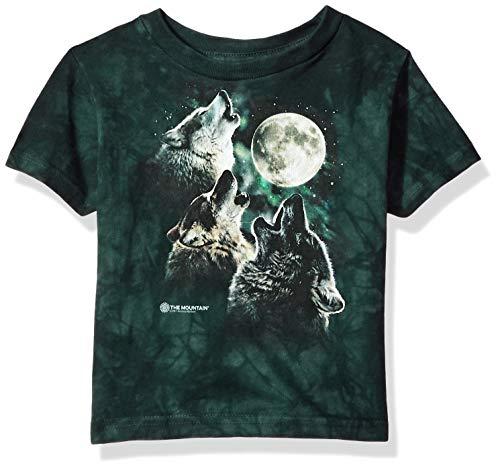 Three Wolf - The Mountain Unisex-Child Toddler Kids Three Wolf Moon, Green 2T