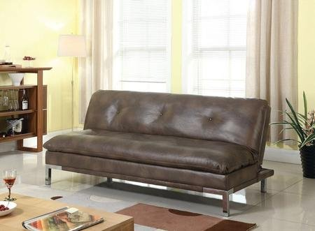 coaster-futons-collection-300681-sofa-bed-with-chromed-steel-legs-pillow-top-seating-sinuous-spring-