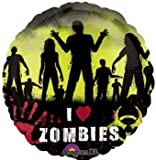 Beware of Zombies Halloween 18in Balloon Party Accessory