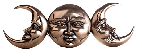 - Pacific Giftware Triple Moon Goddess Maiden Mother Crone Relief Wall Hanging Plaque 15L