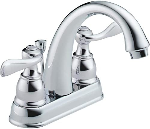 Delta Faucet 25996LF-ECO Windermere Lavatory Faucet, 2-Handle, Center Set, Chrome-Quantity 3