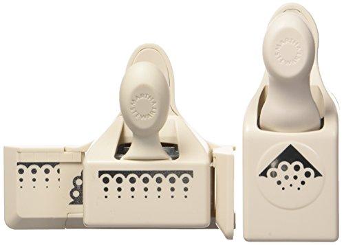 - Martha Stewart Crafts Punch Around the Page, Scallop 3-Dot Punch Set