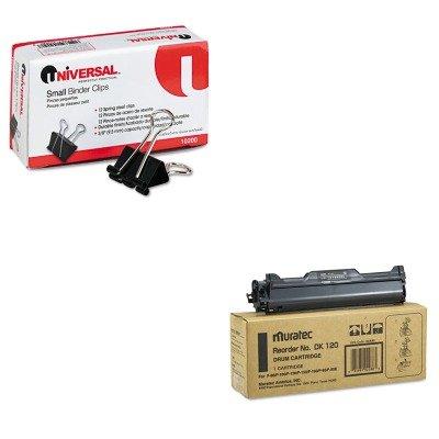Muratec Inkjet Printer Ink (KITMURDK120UNV10200 - Value Kit - Muratec DK120 Drum (MURDK120) and Universal Small Binder Clips (UNV10200))