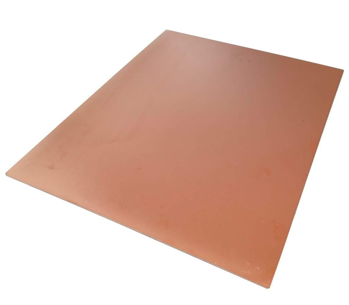 AERZETIX: Plaque Planche Feuille en cuivre pour Circuit imprimé 305/255/1.5mm 100µm Aluminium C40722 C40722 : GP4
