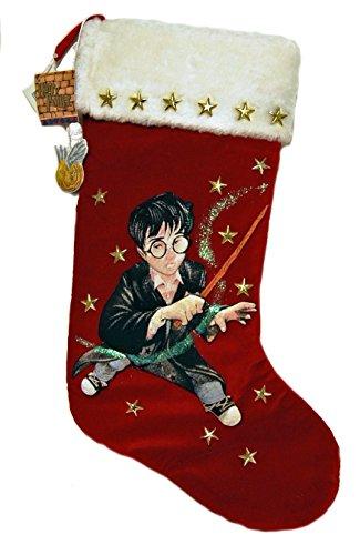 Velvet Decorative Christmas Stocking (Harry Potter Original 2000 Red Velvet and Star Studded Christmas Stocking By Kurt S. Adler Company)