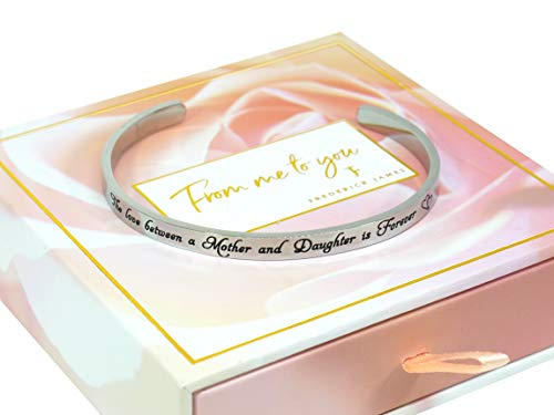 """Mother Daughter Bracelets - """"The Love between a Mother & Daughter"""" Birthday Gifts for Mom from Daughter 